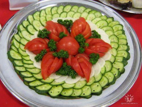 Украшение салатов: варианты оформления и подачи с фото