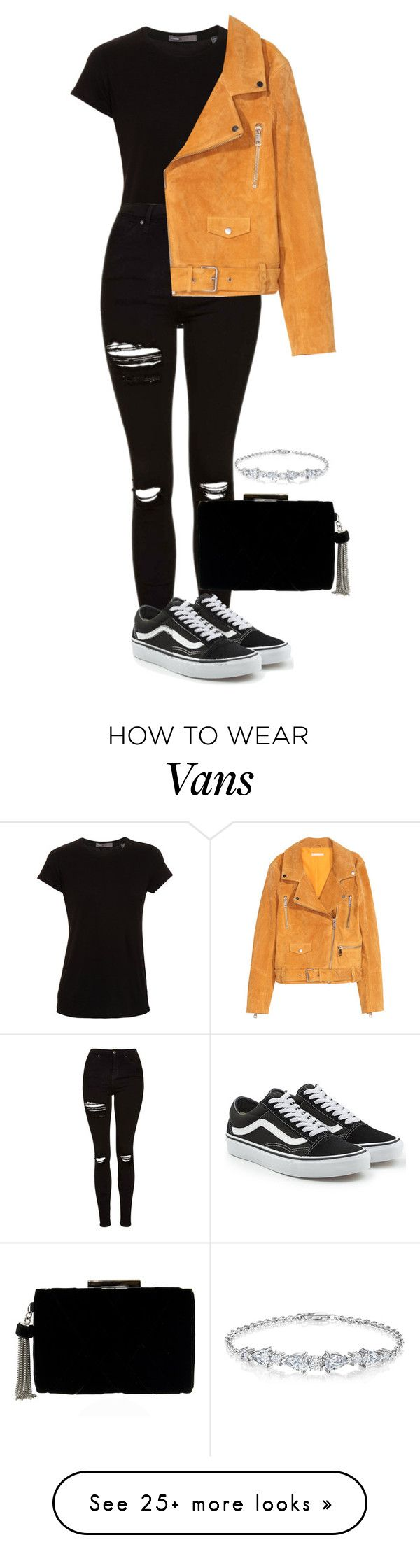 """""""Untitled #759"""" by ayalikeschicken on Polyvore featuring Vince, Topshop, SKINN and Vans"""