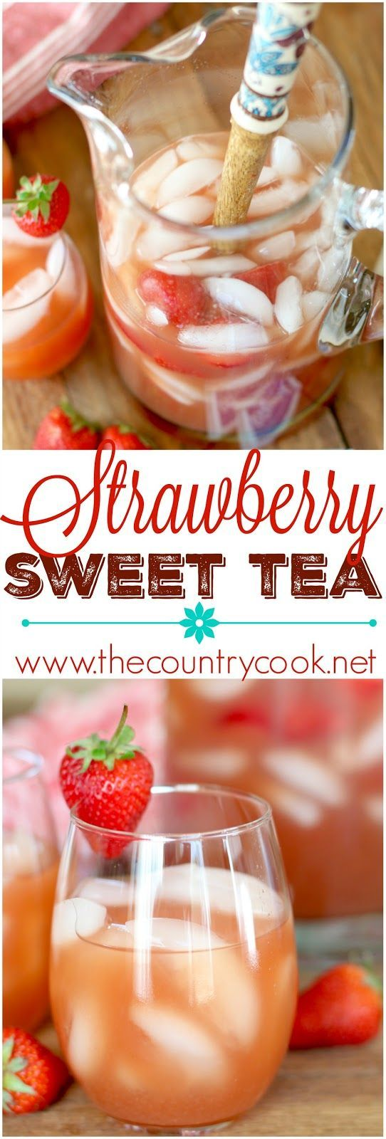Strawberry Sweet Tea (Sugar Free) recipe (thanks to Equal®️️!) from The Country Cook. Summer in a glass. Perfect for parties or perfect for sitting on the porch on a hot day. Everyone fell in love with this drink when I made it! #EmbraceYourTaste #yummy #ad