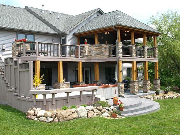 best 25 backyard deck designs ideas on pinterest decks deck and pergola ideas - Patio Deck Design Ideas