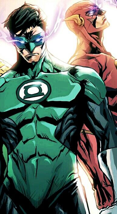 Green Lantern & Flash.