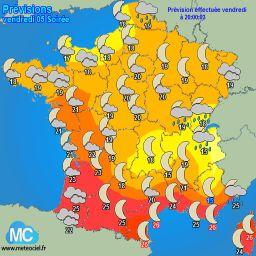 Meteociel - Tendances météo pour Lopérec ( 29590 )