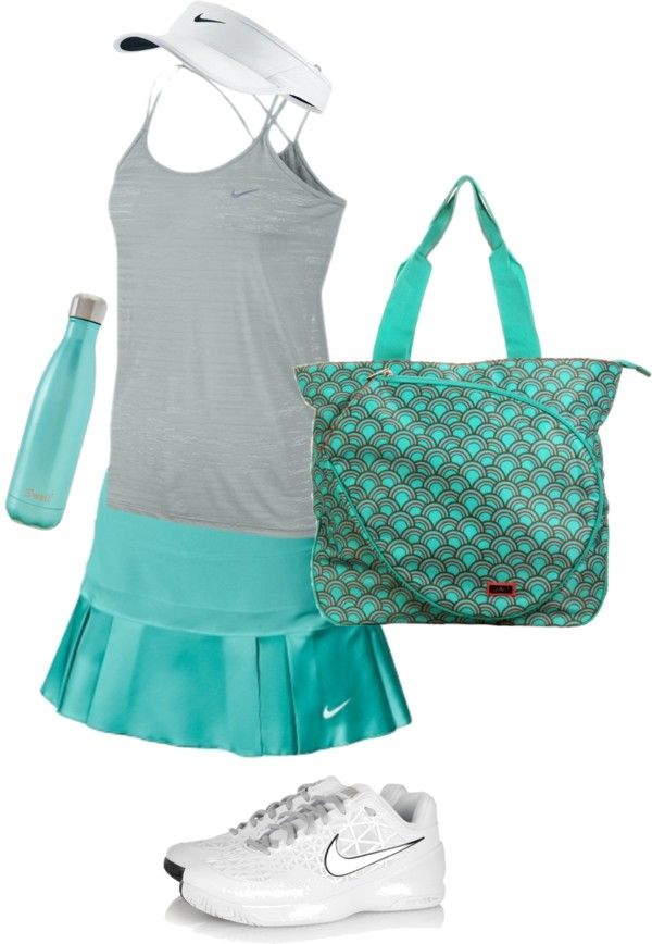 tennis outfit on Polyvore featuring NIKE and Hadaki