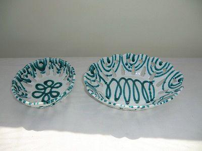 Gmundner Keramik grün geflammt 2 Schalen Gmunden grün in Antiquitäten & Kunst, Porzellan & Keramik, Keramik | eBay