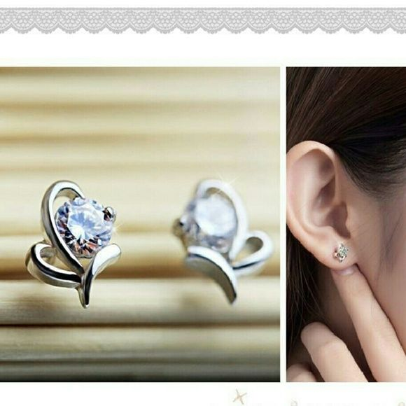 New Sterling Silver Butterfly Post Earrings These beautiful sterling silver butterfly earrings are sure to fly away with your heart. These charming butterfly earrings allow you to celebrate the best of nature in the finest sterling silver. Delightful! All of my jewelry items arrive in a complimentary gift box, perfect for gift-giving! Anthropologie Jewelry Earrings