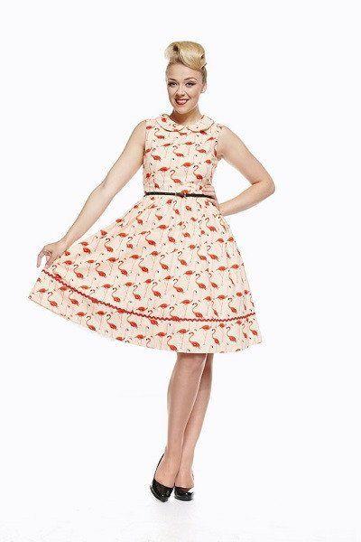Lindy Bop Sammy Flamingo Dress