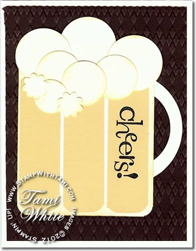 Stampin Up beer mug card and video: Happy Hour, Cards Ideas, Beer Mugs, Scrapbooking Cards, Roots Beer Floating, Birthday Cards, Videos Tutorials, Beer Cards, Circles Punch