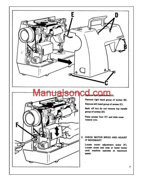 Singer 353 Genie Adjusters Problem Solving Sewing Machine