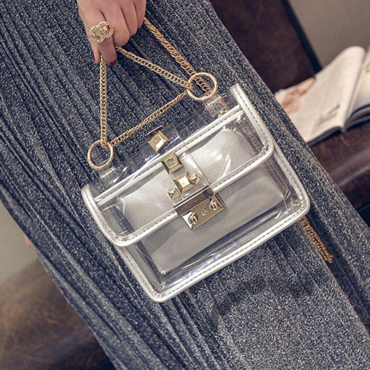 $26.00 (Buy here: https://alitems.com/g/1e8d114494ebda23ff8b16525dc3e8/?i=5&ulp=https%3A%2F%2Fwww.aliexpress.com%2Fitem%2FBag-2016-fahion-new-Korean-version-mother-bag-small-square-clutch-transparent-female-handbag-chain-bag%2F32743431824.html ) Bag 2016 fahion new Korean version mother bag small square clutch transparent female handbag chain bag shoulder Messenger bag for just $26.00