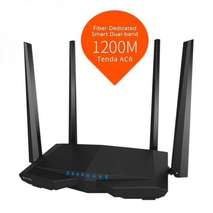 Tenda AC6 Wireless WiFi Router, <b>1200Mbps</b> 11AC <b>Dual Band</b> Wi-Fi ...