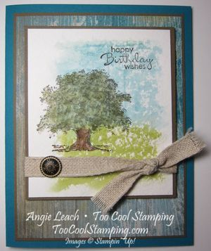 Lovely As A Tree Watercolor Transfer - window sheets, petite pairs, soho subway ~www.TooCoolStamping.com