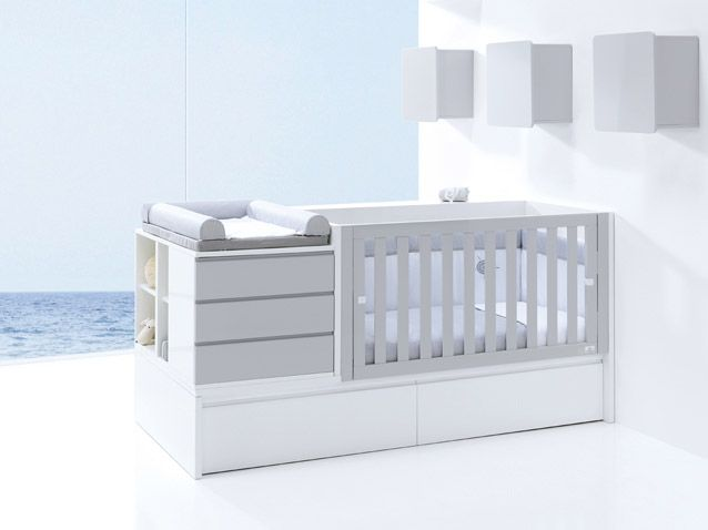 Convertible Cribs, Design Baby Rooms - 3 in 1 : Crib & Changing Table, Toddler Bed, Twin Bed with Detached Nightstand