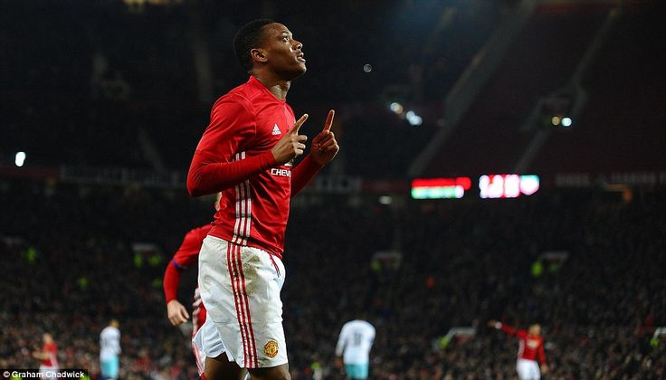 Manchester United 4-1 West Ham: Anthony Martial and Zlatan Ibrahimovic send Red Devils into EFL Cup semi-finals as Jose Mourinho serves touchline ban | Daily Mail Online