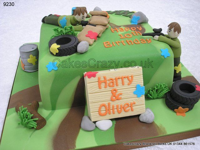 Paintball Cake http://www.cakescrazy.co.uk/details/paintball-cake-9230.html