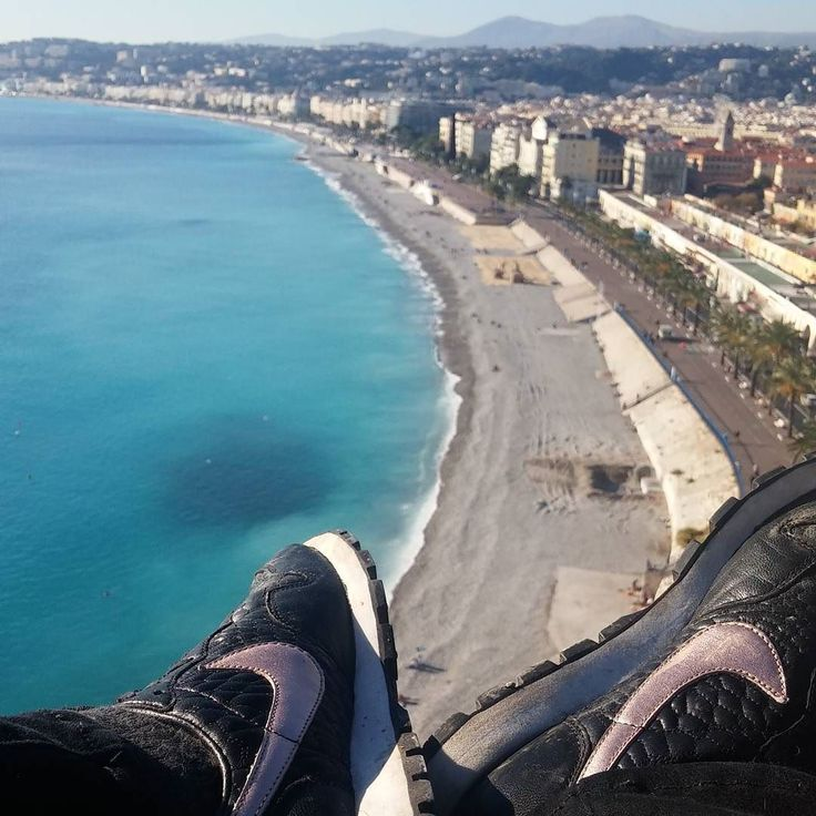 New shoes taking me places.  #newshoes #sneaker #love #Nike #justdoit #climbedthemountain #didit #view #horizon #nofilter #Nice #France #CoteDazur #frenchriviera by zoewarne at http://ift.tt/1iM7IuT