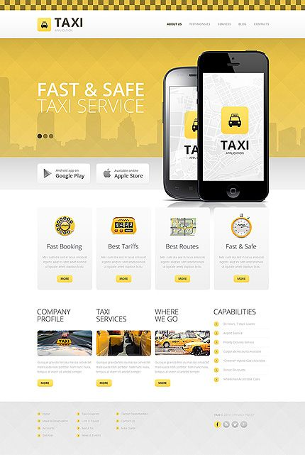 Template 48614 - Taxi Service  Responsive Drupal Template
