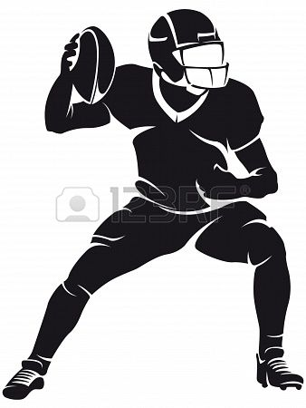 American football player, silhouette Stock Photo - 20331827