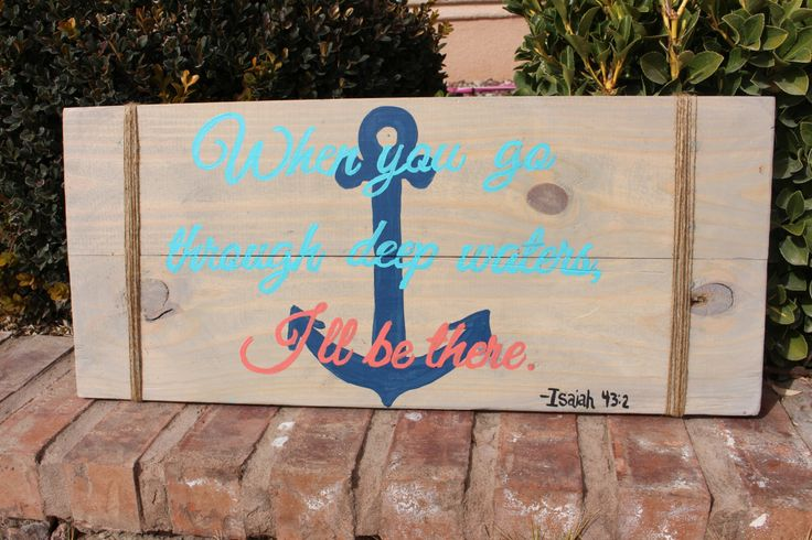 Nautical SIgn Bible Verse Pallet Art Home by CourtsHomeCreations