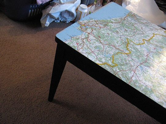 This cute coffee table was a craft project featured on Craft; totally a doable do-it-yourself project.