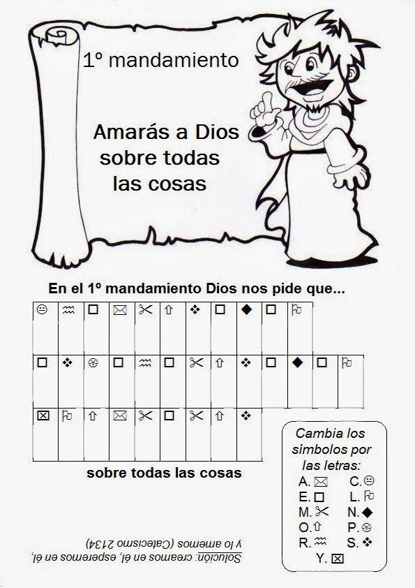 Juegos para aprender con los Mandamientos:                                                         Fuente: elrincondelasmelli    Fichas par...
