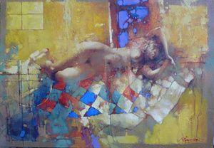 "Waclaw Sporski ""Sweet Dream"" 70x100 Oil On Canvas sporskiart.com"
