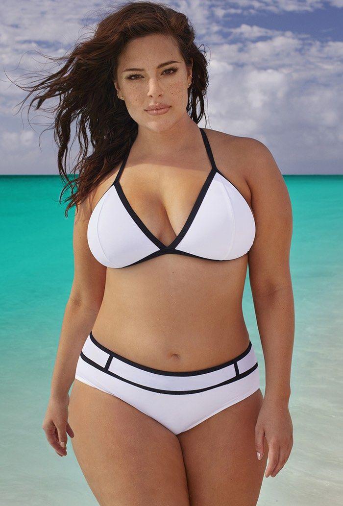 Plus Size Swimwear   Swim Sexy The Smokeshow White Bikini #fatkini #plussize #bikini