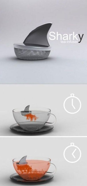 Sharky tea infuser; would be especially striking with rooibos teas.  Ned Hardy » 25 Genius Design Ideas