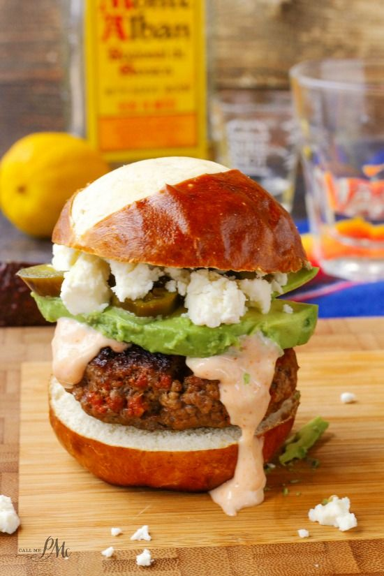 Combine ground beef with chorizo for a spicy slider. Avocado gives a cool, creamy contrast to the sriracha mayo. Get the recipe from Call Me PMC.   - Delish.com