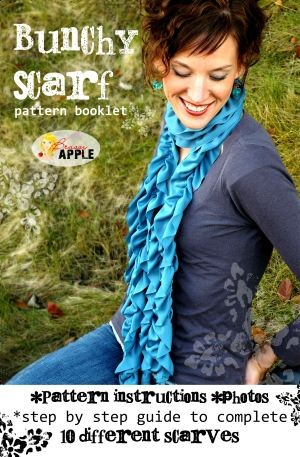 Bunchy scarf pattern booklet #ruffled scarf #sewing #ePattern format as well