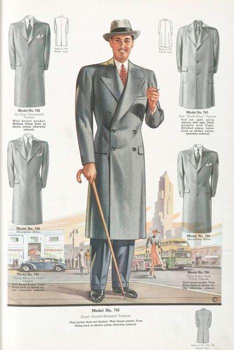 мужская мода 40-х годов