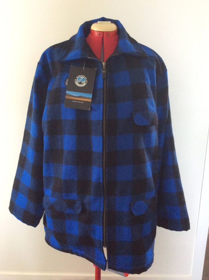 Swanndri New with Tags Mens Blue Black Plaid Wool Outdoors Jacket 2XL Made in New Zealand by KiwiFunk on Etsy https://www.etsy.com/ca/listing/588436183/swanndri-new-with-tags-mens-blue-black