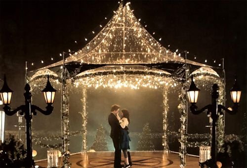 as much as i laugh at this movie, it has planted this desire to get married under a gazebo of lights.