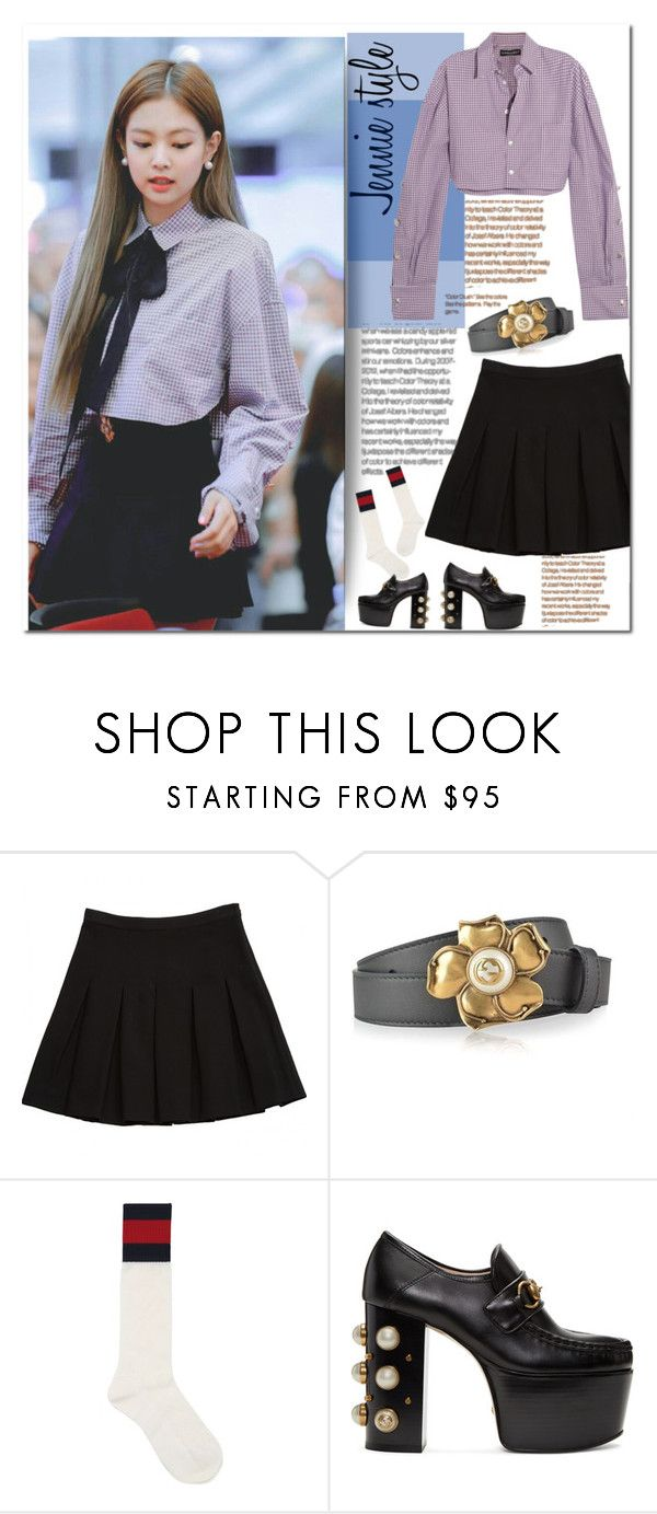 """""""BLACKPINK: Jennie style"""" by olx-kz ❤ liked on Polyvore featuring Diane Von Furstenberg, Gucci and Y/Project"""