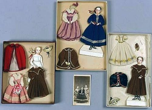 Finely Detailed Hand-Made Paper Dolls of the Herbert Hosmer Family Members