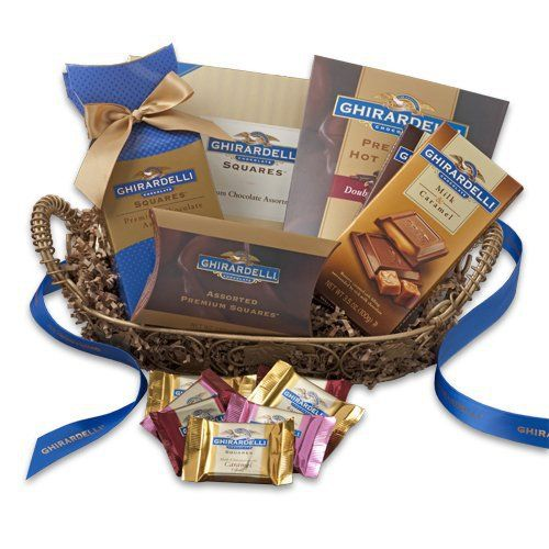 The Ghirardelli Chocolate Company is a manufacturer and marketer of premium chocolate products. Incorporated in 1852 and in continuous operation since, Ghirardelli has the richest heritage of any American chocolate company. Ghirardelli is one of the few companies in America that controls the... more details available at https://perfect-gifts.bestselleroutlets.com/gifts-for-holidays/grocery-gourmet-food/product-review-for-ghirardelli-chocolate-comforts-basket/