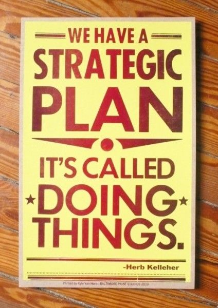 Plans only work if they're executed.