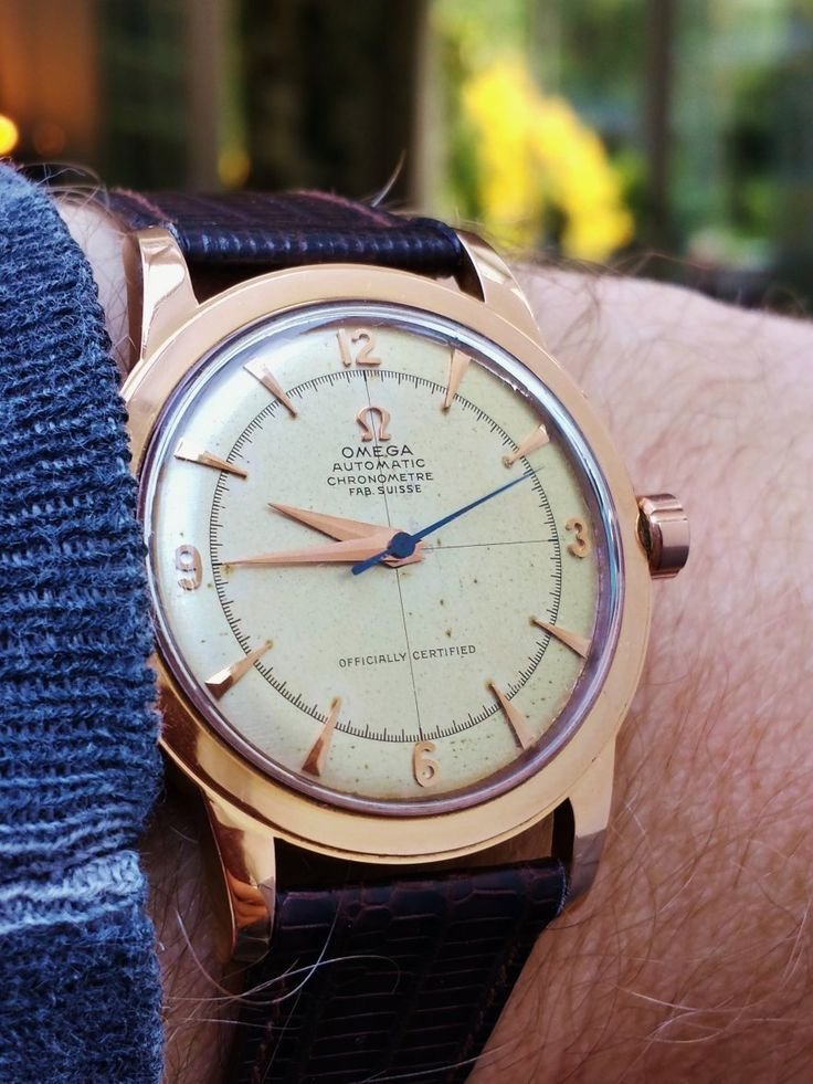 Stunning Vintage OMEGA Automatic Chronometer In 18K Solid Rose Gold - http://omegaforums.net - mens watches buy online, cheap mens watches for sale, designer mens watches sale