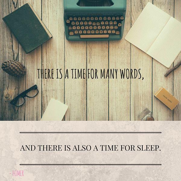Homer quote on sleep