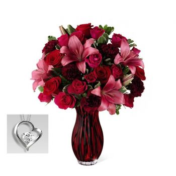 #bowmanvilleflowers #valentinesday #giftideas #roses #red #love #sparkleroses #chocolatecoveredstrawberries #teddy #bear The FTD® Lasting Romance® Bouquet | Bowmanville, Courtice, Newcastle, Oshawa, Whitby Flower Delivery