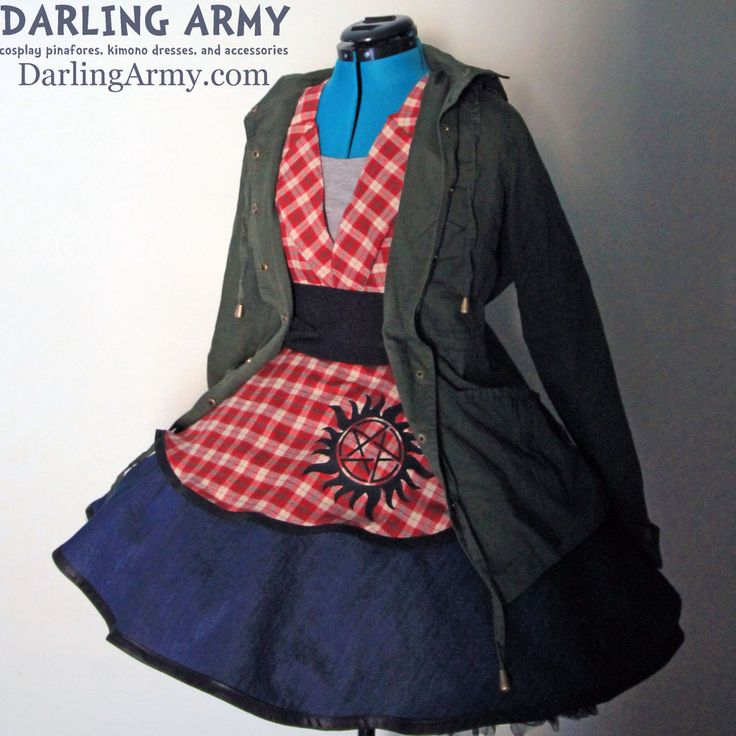 Supernatural Sam Winchester Cosplay Pinafore by DarlingArmy.deviantart.com on @DeviantArt