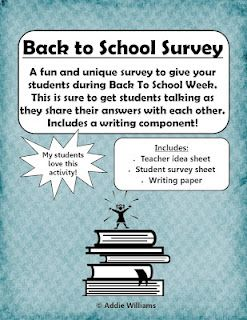 FREE Back to School Student Survey - a fun and unique set of questions to get to know your students!