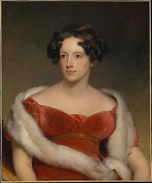 1818 Mrs. John Biddle (Eliza Falconer Bradish) painted by Thomas Sully at the Metropolitan museum NYC