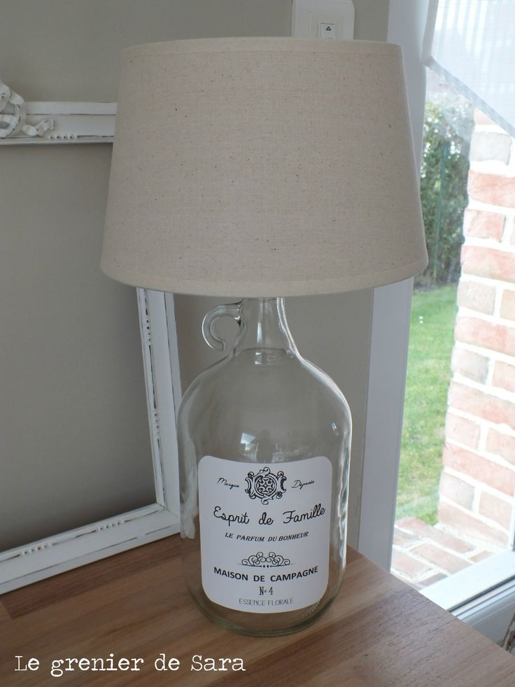 lampe r cup broc et patine le grenier de sara lampes lustres cie pinterest. Black Bedroom Furniture Sets. Home Design Ideas
