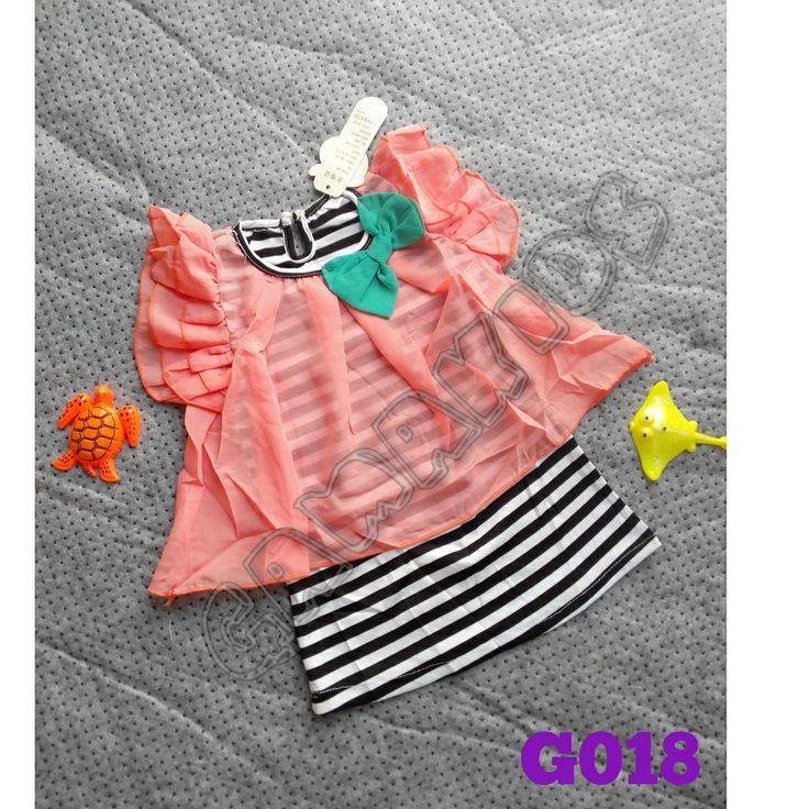 Cute span dress (G018)    Size 1-4 tahun    IDR 75.000