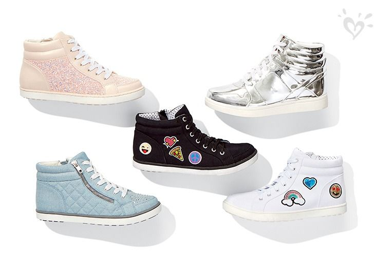 A high top style for every mood—quilted, patches, sparkles and metallics. Choose her fave.