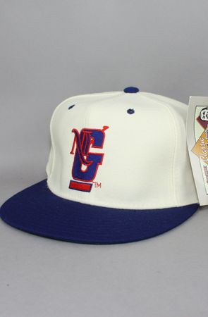 Vintage Deadstock  New York Giants Fitted Hat (Ivory/Blue)    $45.00: New York Giant