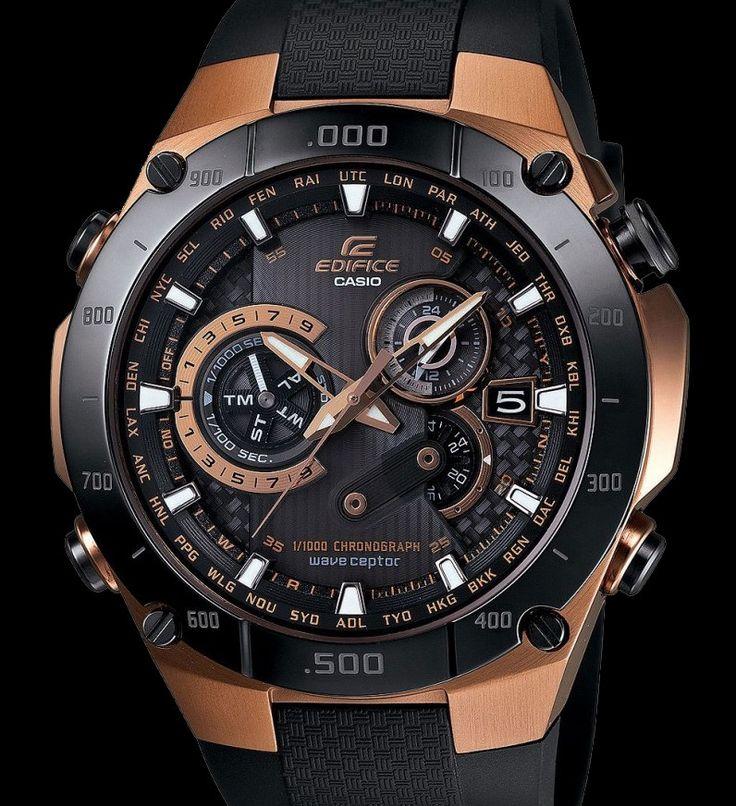Edifice Black & Rose Gold relógio por Casio