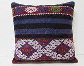 24x24 kilim pillow 24x24 big pillow cover euro sham 24x24 couch pillow large sofa pillow large pillow case large throw pillow blue rug 25469