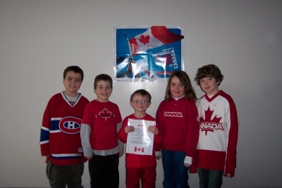 St. Andrew School (Sudbury, Ontario) students and staff demonstrated their national pride on February 15th, National Flag Day, by wearing red and white.