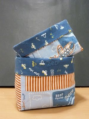 Tutorial para hacer cestas de tela. Fabric basket.